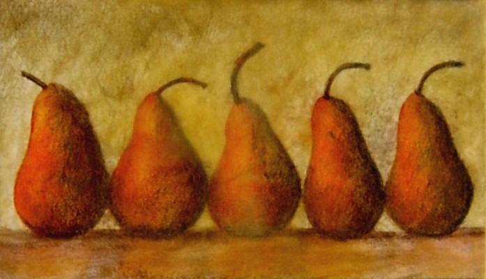 5 Orange Pears