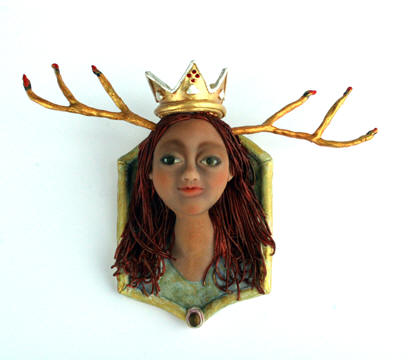 Valentina del Fuego, polymer clay 6h x 8w x 2.5d  (Artisans on Taylor)