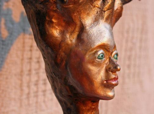 Dryad, polymer clay statue, 25h x 12.5w x 4.5d (