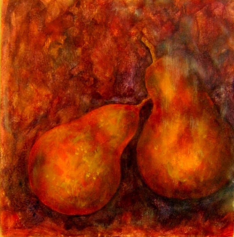 2 Orange Pears